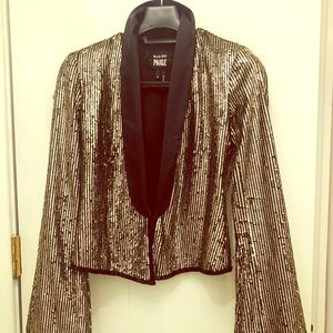 Women s Gold Tuxedo Jacket on Poshmark 9617d80108